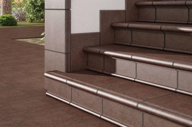 Escalera rodamanto detalle esquina cer mica para - Ceramica para exterior ...