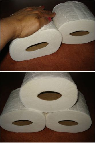 Squish your toilet paper rolls to avoid any wasteful unraveling. | 46 Penny-Pinching Ways To Save A Lot Of Money This Year