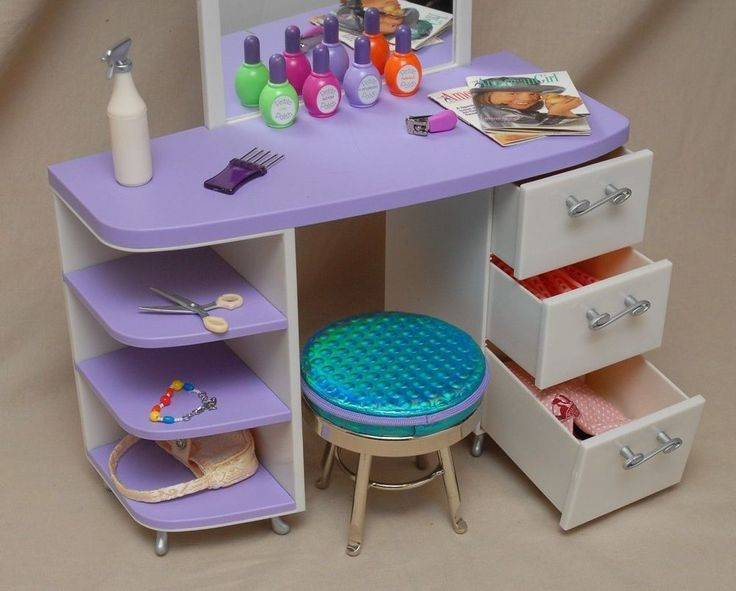 Elegant American Girl Salon Set Stool Pleasant Co Accessories Retired Doll Furniture