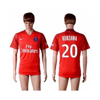 Paris Saint Germain PSG 16-17 Layvin Kurzawa 20 Bortatröja Kortärmad   #Billiga  #fotbollströjor