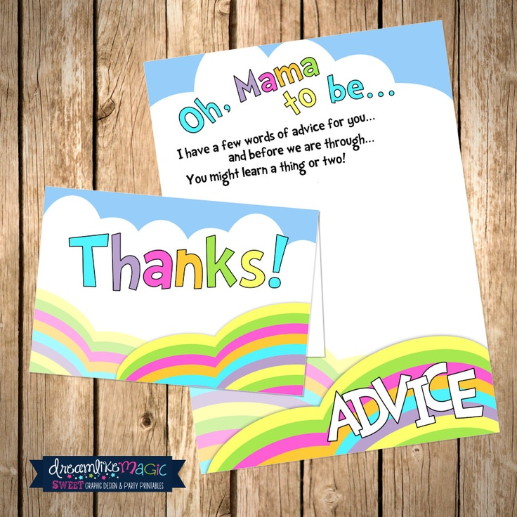 ... The Places You'll Go- Printable Advice Card and Thank You Card Des
