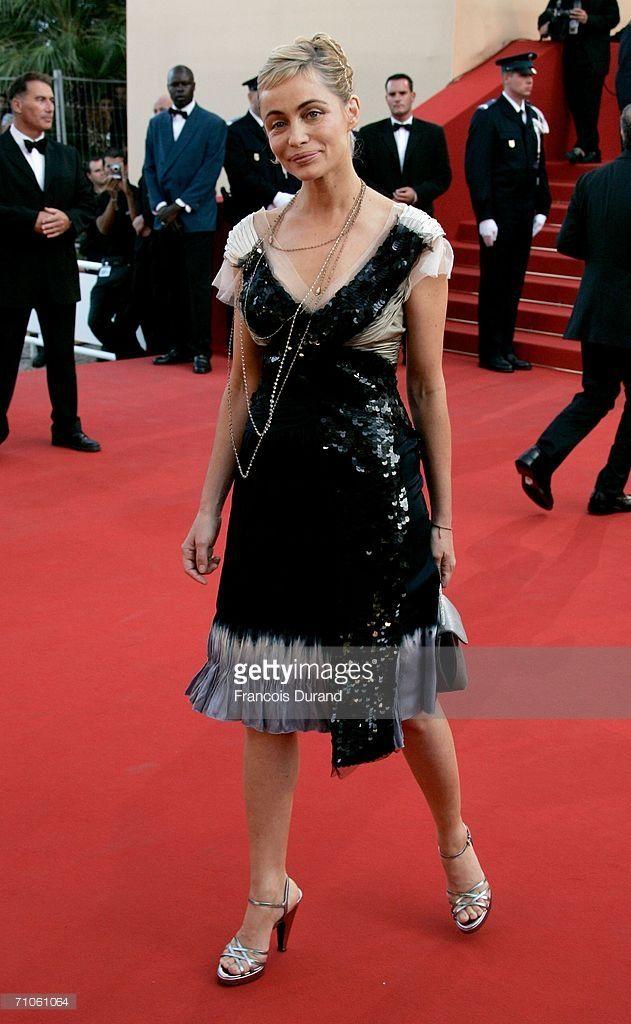 Photo d'actualité : French actress Emmanuelle Beart attends the...