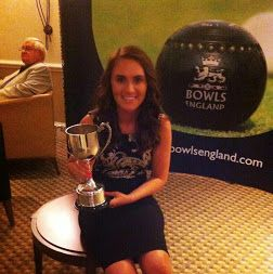 Sophie Tolchard, Bowling Sales Executive at TLH Leisure Resort in Torquay, wins the Bowls England Junior Bowler of the Year Award 2014.