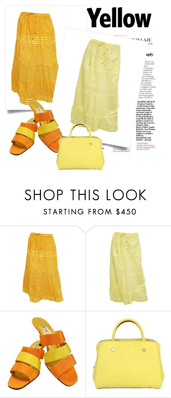 Yellow Collection For Summer by lavanyas-trendzs on Polyvore featuring ESCADA, Louis Vuitton, yellow, LongSkirts, skirts and women  http://www.polyvore.com/cgi/set?id=210115095  #skirts #women #fashion #longskirts #yellow
