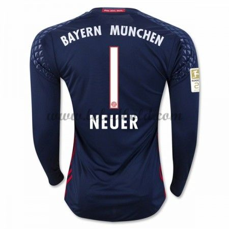 Billige Fodboldtrøjer Bayern Munich 2016-17 Neuer 1 Målmand Langærmet Hjemmebanetrøje