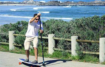 SUP the streets !  StreetSUP, #landpaddling, #longboarding, #paddleboarding   #adventure, #travel, #HyperActiveX - http://www.seattlelandpaddling.com/