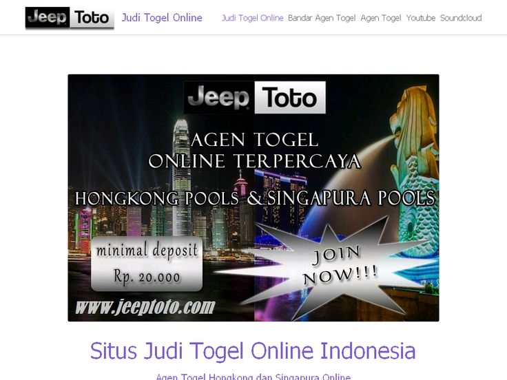 Judi Togel Online Indonesia on Strikingly