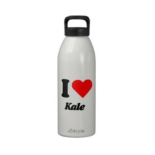 I heart love Kale Water Bottle