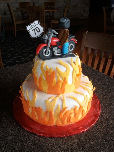 70th Birthday Cake For Motorcycle Lover 70th Birthday