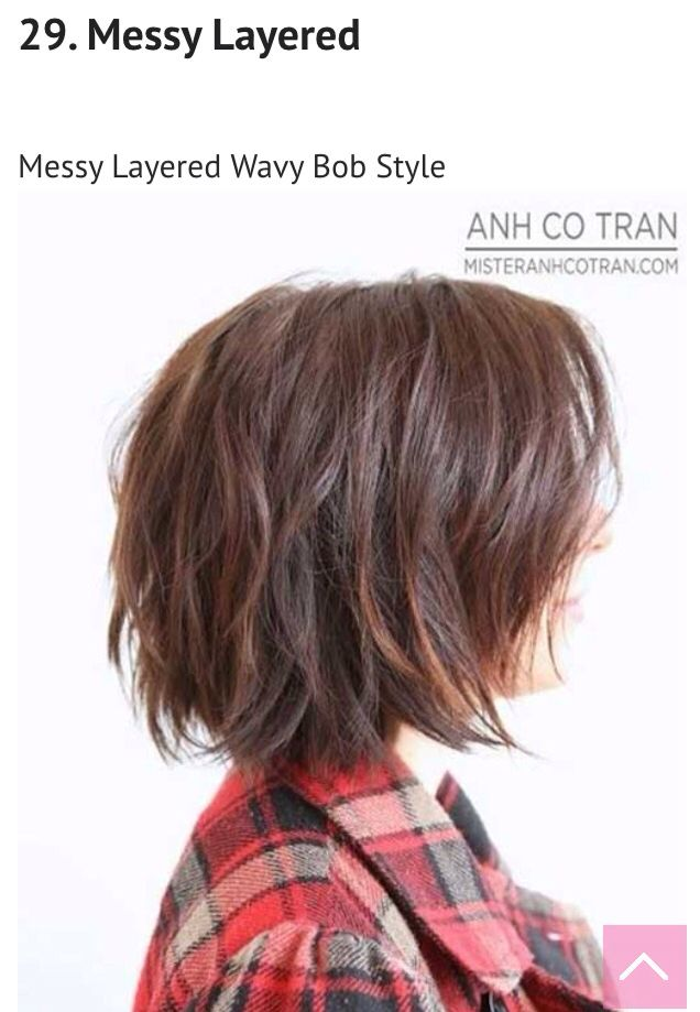 Cute short bob haircut. I showed my hairdresser this and so she razored mid length layers and it turned out really cute.