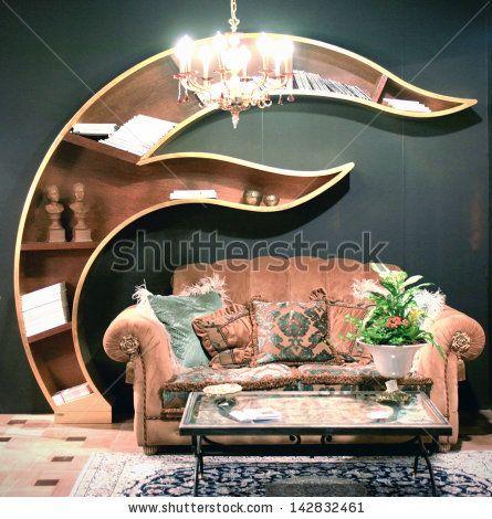 MILAN - APRIL 15: Living room interior design background, Salone del Mobile, international furnishing accessories exhibition April 15, 2010 ...
