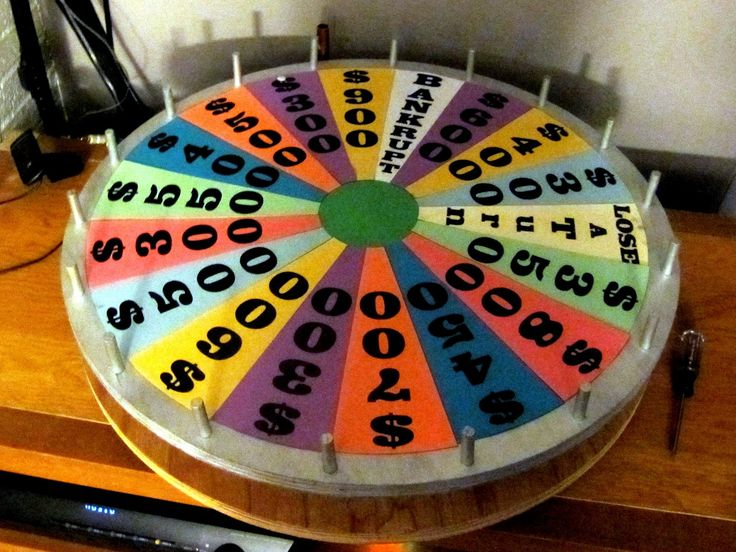 homemade wheel of fortune game | Home made mini-version of the Wheel of Fortune!
