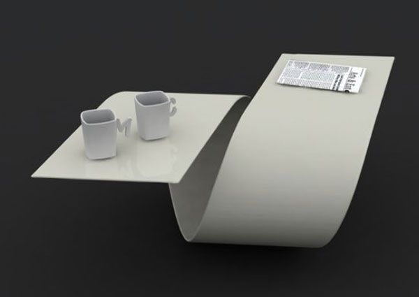 Futuristic Coffee Table With Amazing Curves   Loop By Baita Design    DigsDigs
