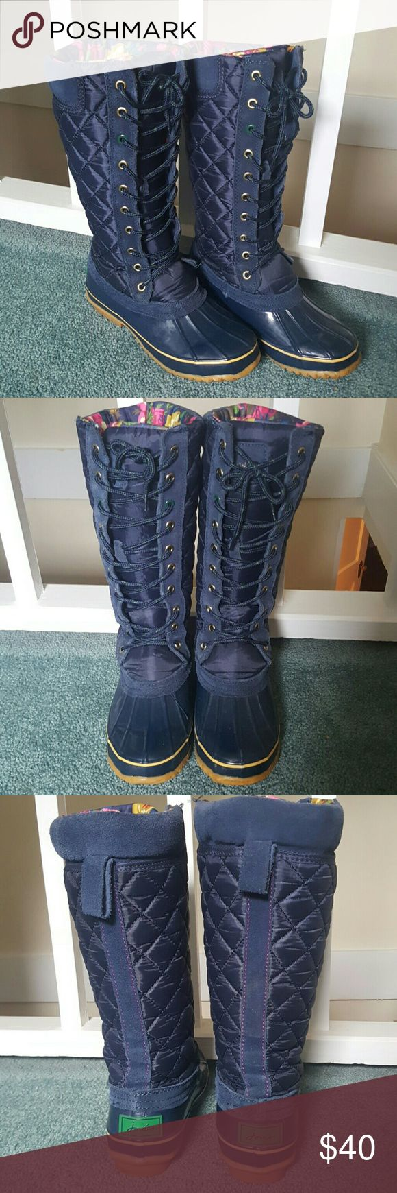 Joules boots Gently used Joules snow boots size 3UK 5US Joules Shoes Winter & Rain Boots