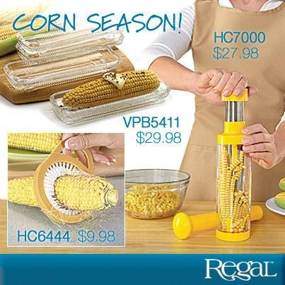 Get yourself ready for corn season! Love corn-on-the-cob but hate the preparation required? Regal has what you need, whether you like eating your corn right off the cob or you like it loose!