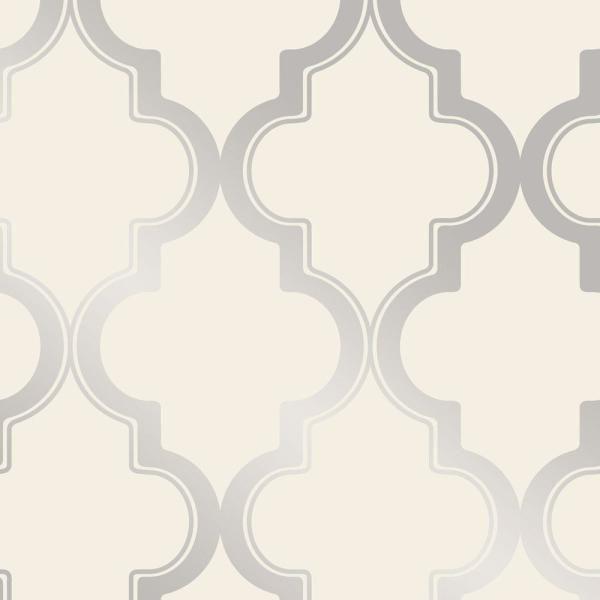 Silver Metallic Peel And Stick Wallpaper
