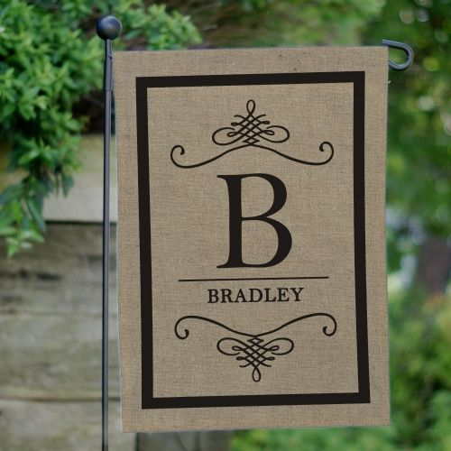 This Family Monogram Burlap Garden Flag is a classic take on the rustic! Great to #personalize your garden or yard this Summer!