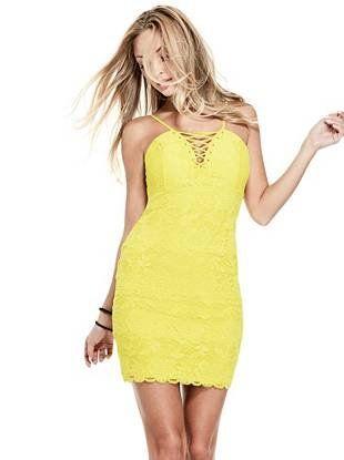 Virgina Lace Dress   shop.GUESS.com