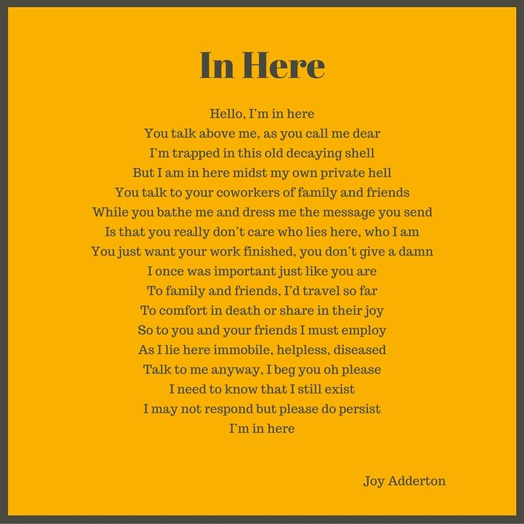 7 best Dementia poems images on Pinterest | Alzheimers ...