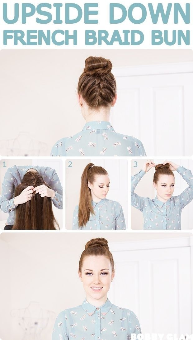 French Braid Bun Updos Tutorial: Holidays Hairstyles