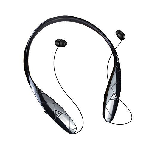 Bluetooth Headphones DolTech Stereo Wireless Headset Neckband Retractable Sport Earbuds with Mic NoiseCancelling Sweatproof Bluetooth 41 for iPhone IOS Android Black >>> Want additional info? Click on the affiliate link Amazon.com on image.
