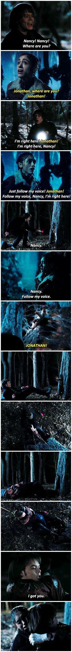 I got you. #stranger things  #nancy x jonathan #1.05