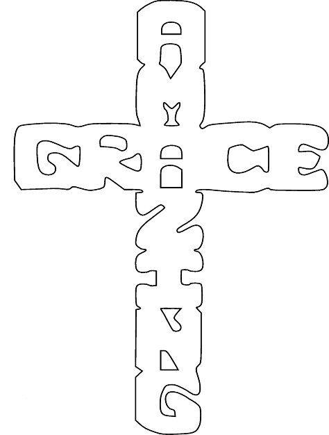 Free Scroll Saw Patterns by Arpop: Amazing Grace Cross