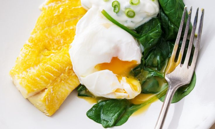 There are few combinations as comforting as this medley - a melody, almost - of smoky fish, dark green spinach and a quivering poached egg.