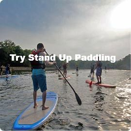 I love kayaking and have always been seen as a water baby. I would like to try paddle boarding because it seems like a challenge.