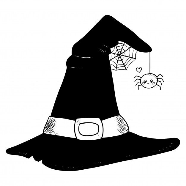 Witch Hats By Https Www Deviantart Com Klenalom On Deviantart Witch Hat Illustration Hat Drawing Witch Hat Art