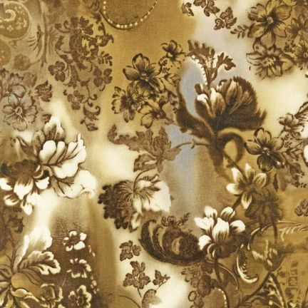 Robert Kaufman Fabrics: EYJ-10410-200 VINTAGE from Mademoiselle