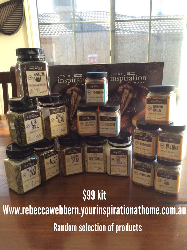 Do you love to eat ? Drink? And have fun?   As a your inspiration at home consultant that is what I do. I love to share our award winning gourmet products that contain No preservatives, No msg and no added gluten.  We have no monthly quotas!  no territories an no limit to the amount of fun you are going to have. It's so simple and the rewards are great. You too can join me from as little as $59 (AUS,USA,UK,NZ,Canada )  www.rebeccawebbern.yourinspirationathome.com.au