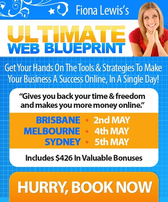 CONTEST! Find out more about how you can win a free ticket to the Ultimate Web Blueprint in May