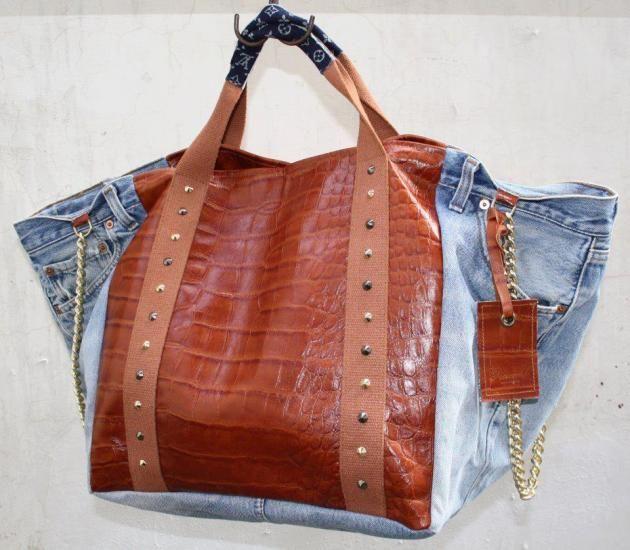A arte de re-uso contaminação na moda. Rebecca j. torna-se OS Antigos Sacos De Compras denim. Simplesmente, amei!!