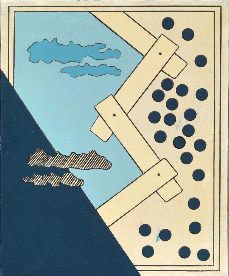 Tano Festa, Le dimensioni del cielo n°5, 1965 Tornabuoni Art - La Dolce Vita Courtesy Tornabuoni Art