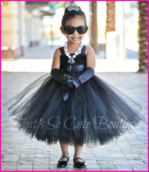 Audrey Hepburn Breakfast at Tiffany's Tutu Dress, Black Tutu Dress, Audrey Hepburn Costume for kids