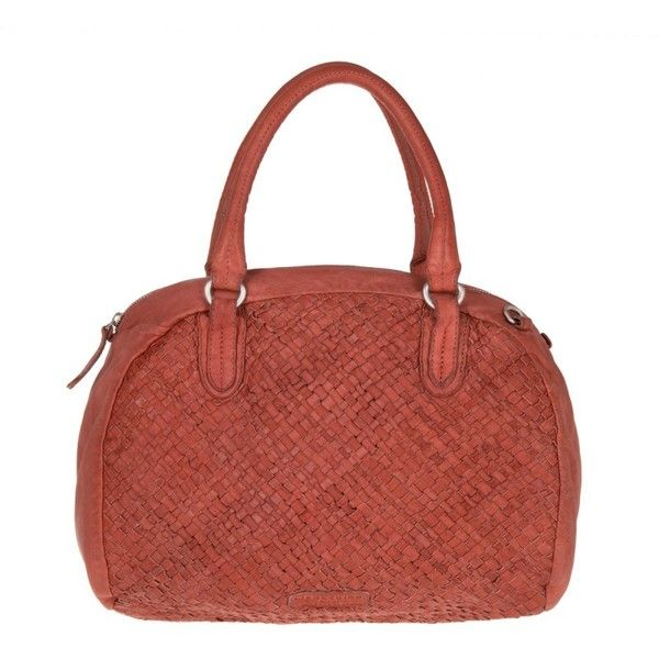 Liebeskind Muro Sheep Natural / Woven Pink Flamingo in red, silver,... (€175) ❤ liked on Polyvore featuring bags, handbags, shoulder bags, braided handle handbag, pocket purse, woven shoulder bag, woven handbags and zip purse