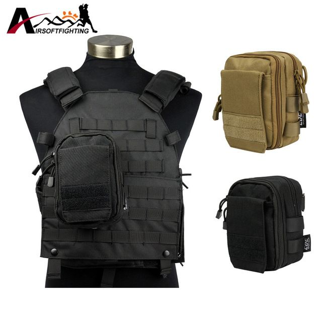 Good price 1000D Tactical Molle Utility Sundries Pouch Strap Shoulder Bag Molle Vest Waist Pack Airsoft Hunting EDC Gear Accessory Pouch just only $12.21 with free shipping worldwide  #sportsbags Plese click on picture to see our special price for you
