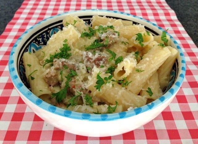 Pasta met worst en prei - pasta recepten — Alles Over Italiaans Eten