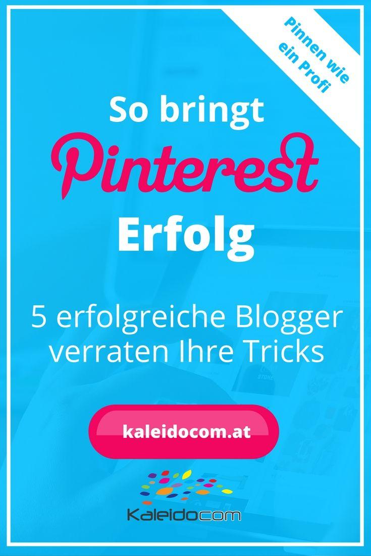 Wie sie zu ihrem Erfolg auf Pinterest gekommen sind, verraten 5 erfolgreiche Blogger und geben Einblick und Tipps. Hier mehr lesen!