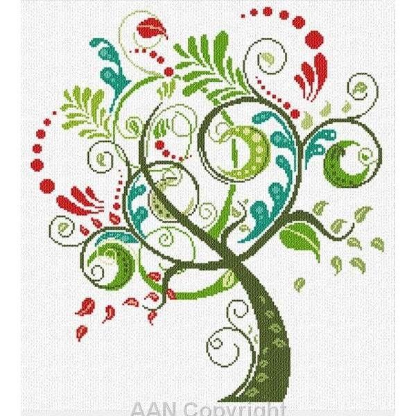 Albero Felice AAN A1412 d'Alessandra Adelaide Needleworks chez Univers Broderie