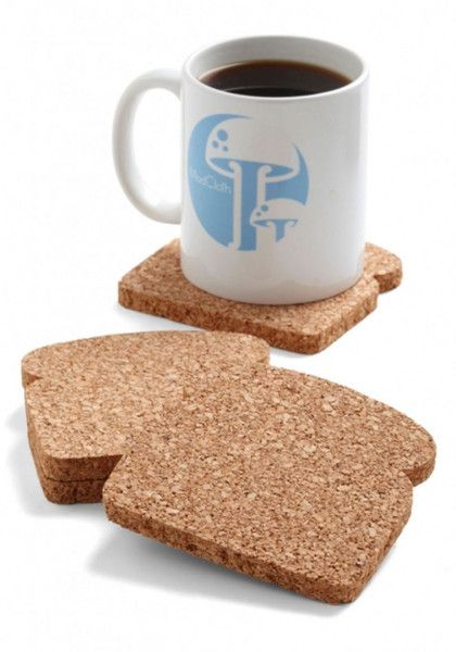 Toastit Coasters (Set of 8) by Design Ideas