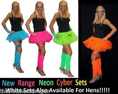 Neon cyber tutu leg #warmers wrist-cuffs or #garter 1980s fancy #dress hen party , View more on the LINK: http://www.zeppy.io/product/gb/2/130747359197/
