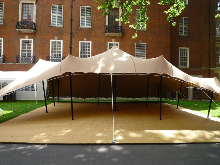 tent with coconut matting