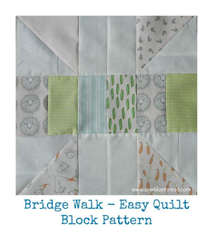 'Bridge Walk' quilt block pattern.  PDF downloadable pattern in my shop.