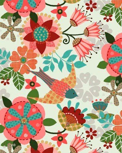 trinity designs: Birds Prints, Kids Patterns Prints, Bird Patterns, Prints Patterns, Beautiful Patterns, Floral Patterns Fabrics, Floral Patterns Design, Trinity Design, Birds Patterns