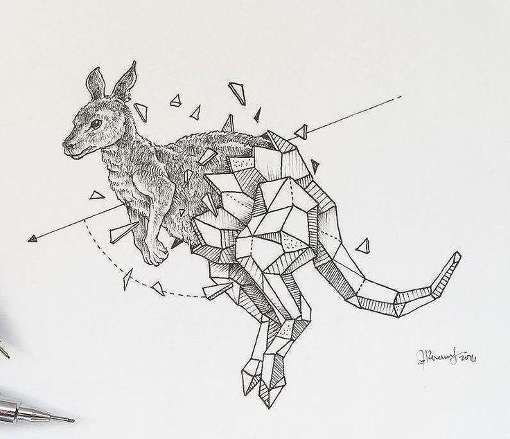 Эскиз геометрического кенгуру