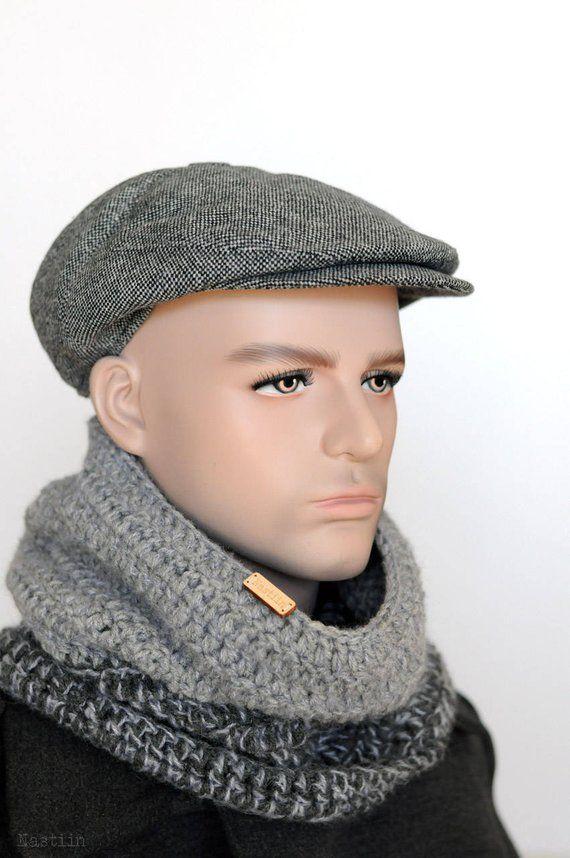 ff6a04d037f Tweed newsboy hat Grey wool hat Driver cap Mens newsboy cap Womens newsboy  cap Peaky Blinders hat gr