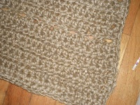 Crocheted Jute Door Mat/ Cat Litter Mat