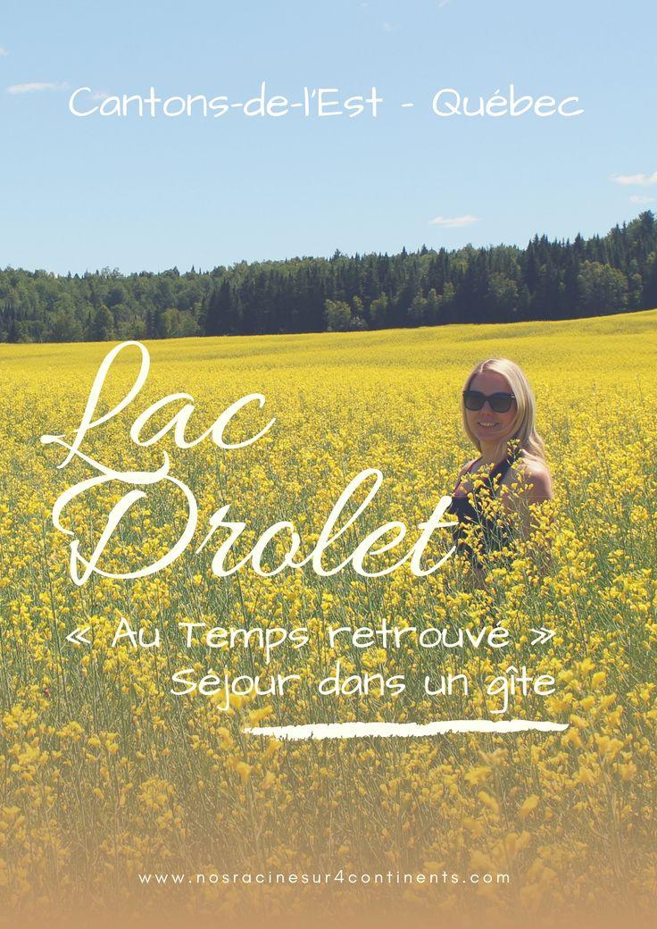 Week-end familial dans un gîte du Lac-Drolet dans les Cantons-de-l'Est (Québec)